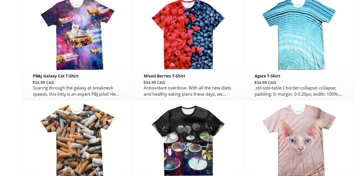 Shelfies All-over-print T-shirts
