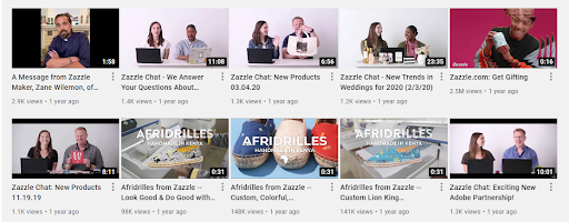 On-demand marketplace Zazzle