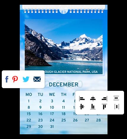 Photo Calendar Designer Software - Other Features